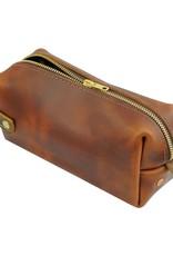 Saddle Leather High Line Medium Dopp Kit