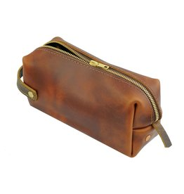 Saddle Leather High Line Medium Dopp Kit
