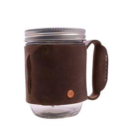 Dark Brown Leather Mug Holder