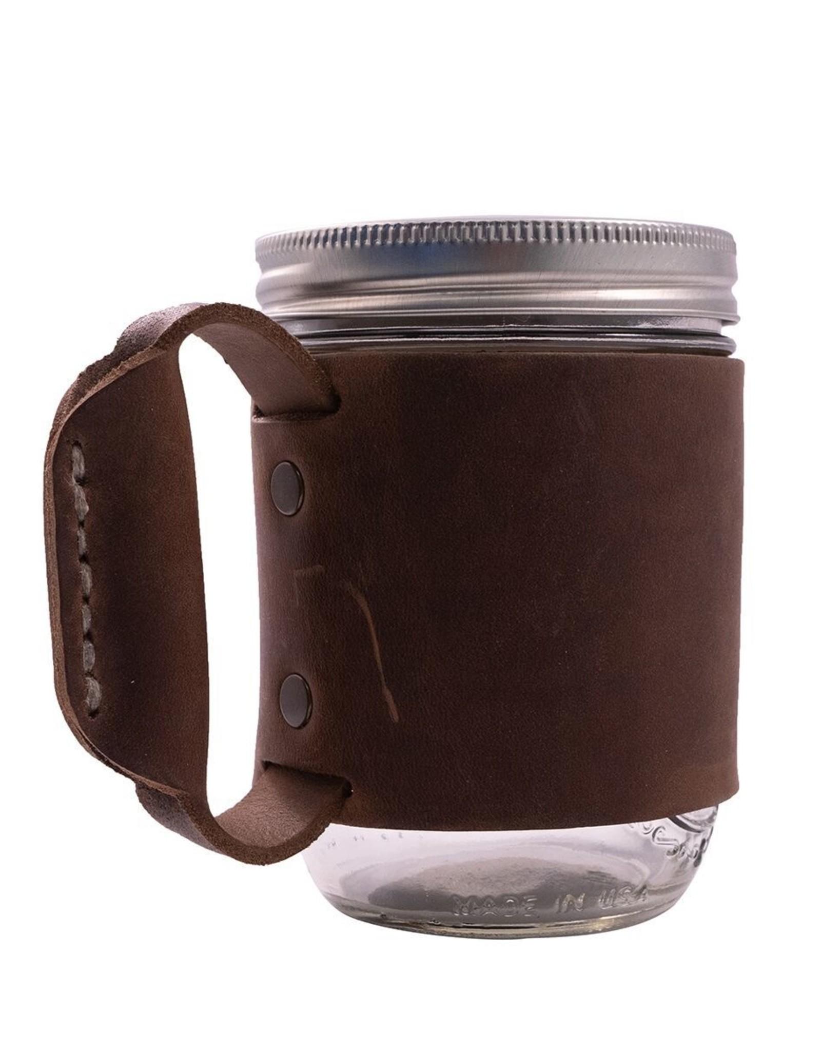 Dark Brown Leather Mug Holder