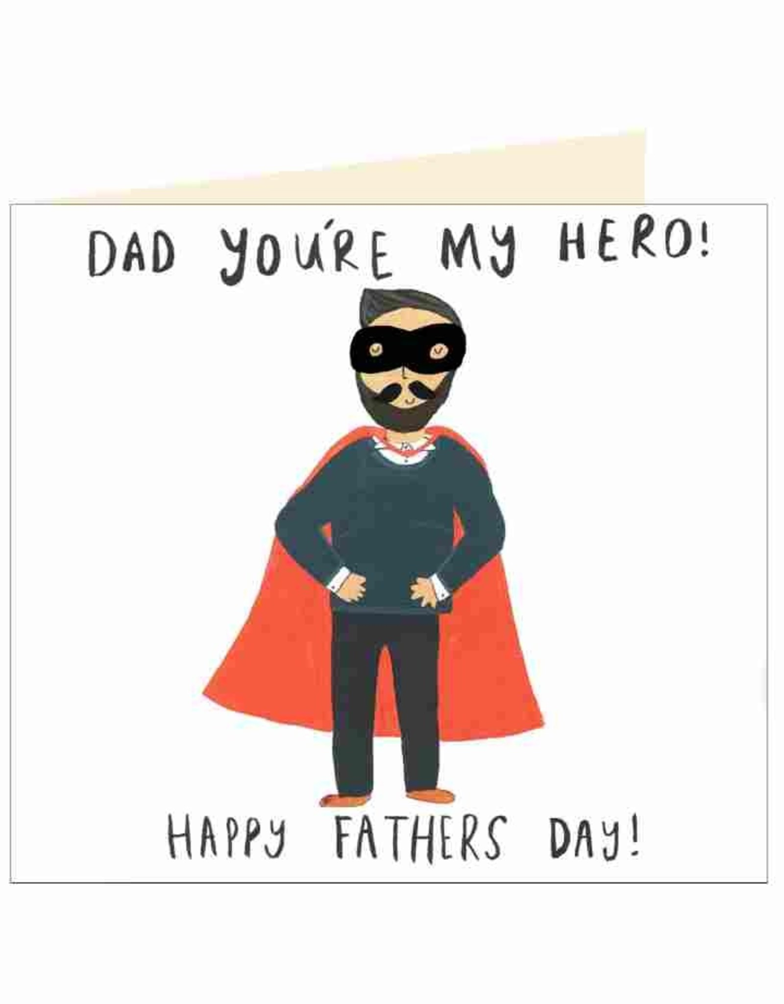 Father's Day Card - Dad You're My Hero! - Cape