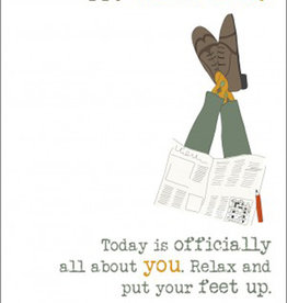 Father's Day Card - Relax And Put Your Feet Up