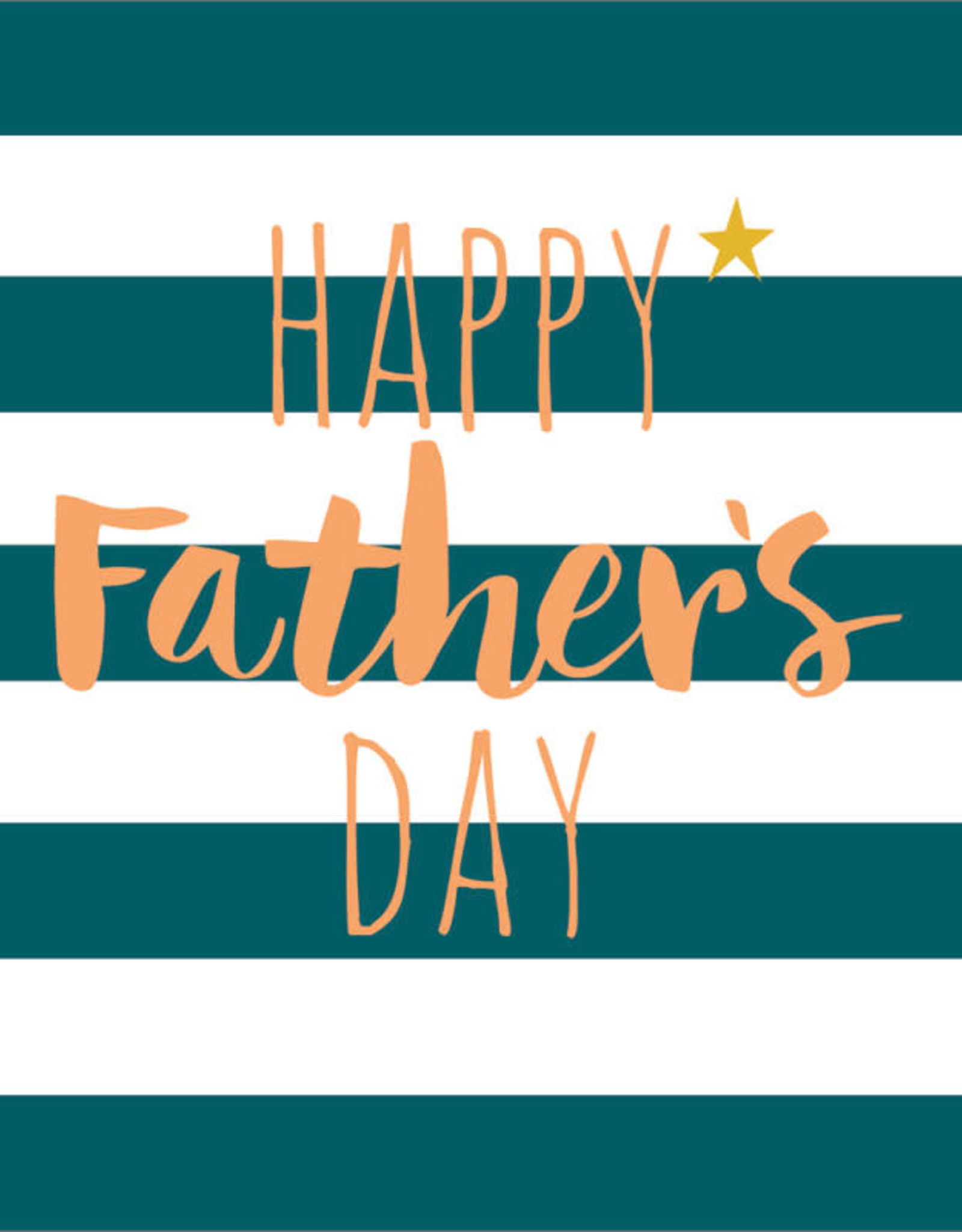 Father's Day Card - Happy Father's Day - Stripes