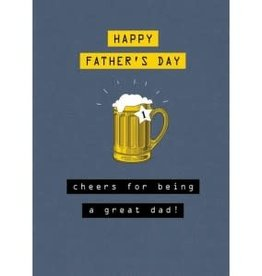 Father's Day Card - Cheers For Being A Great Dad!