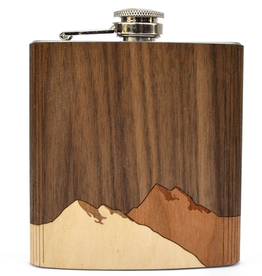 Wooden Flask - Mountains