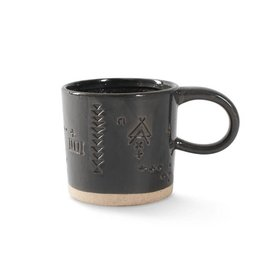 Charcoal Ceramic Mug with Artisan Marks