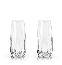 Stemless Crystal Champagne Flutes