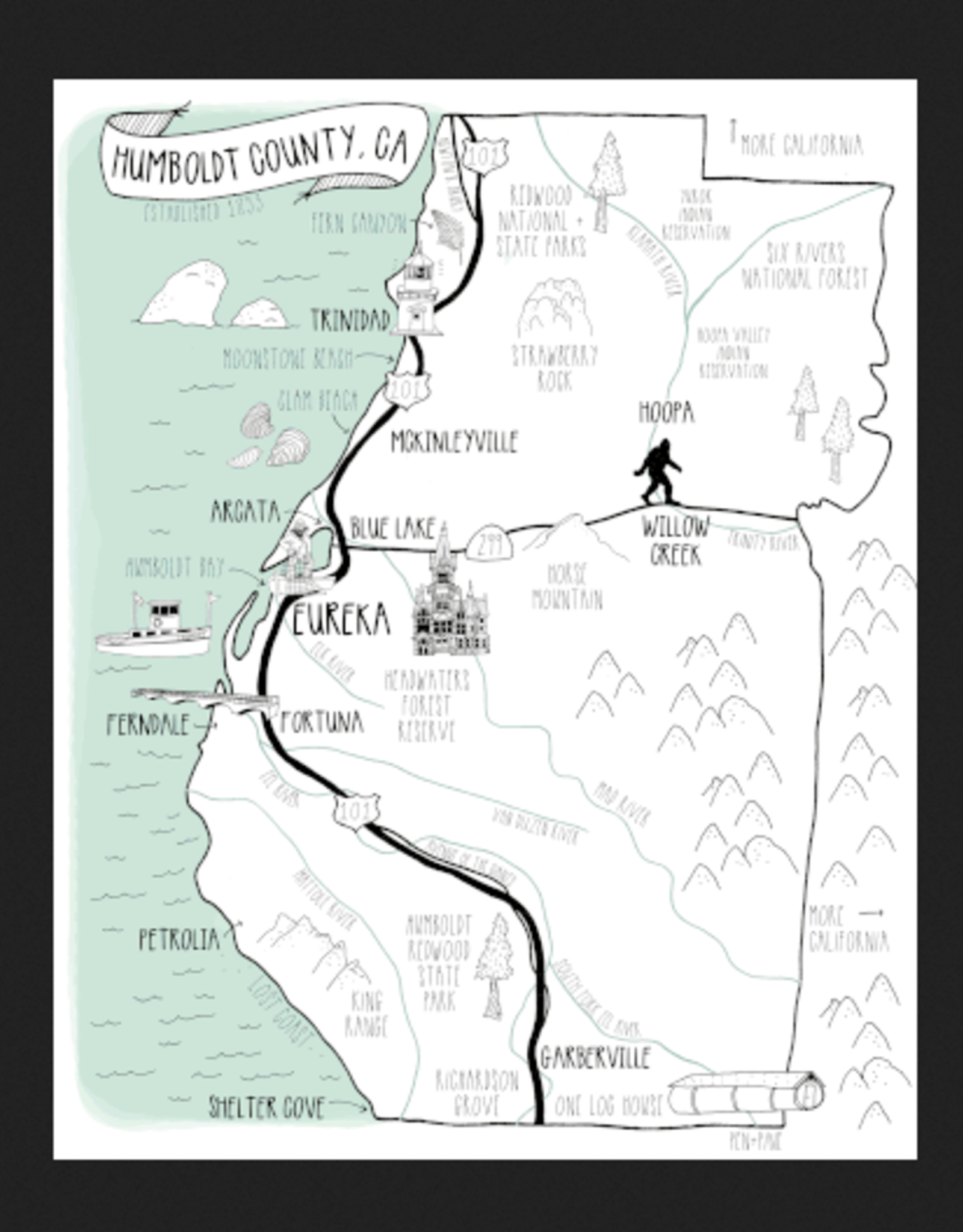 PEN AND PINE Humboldt County Map