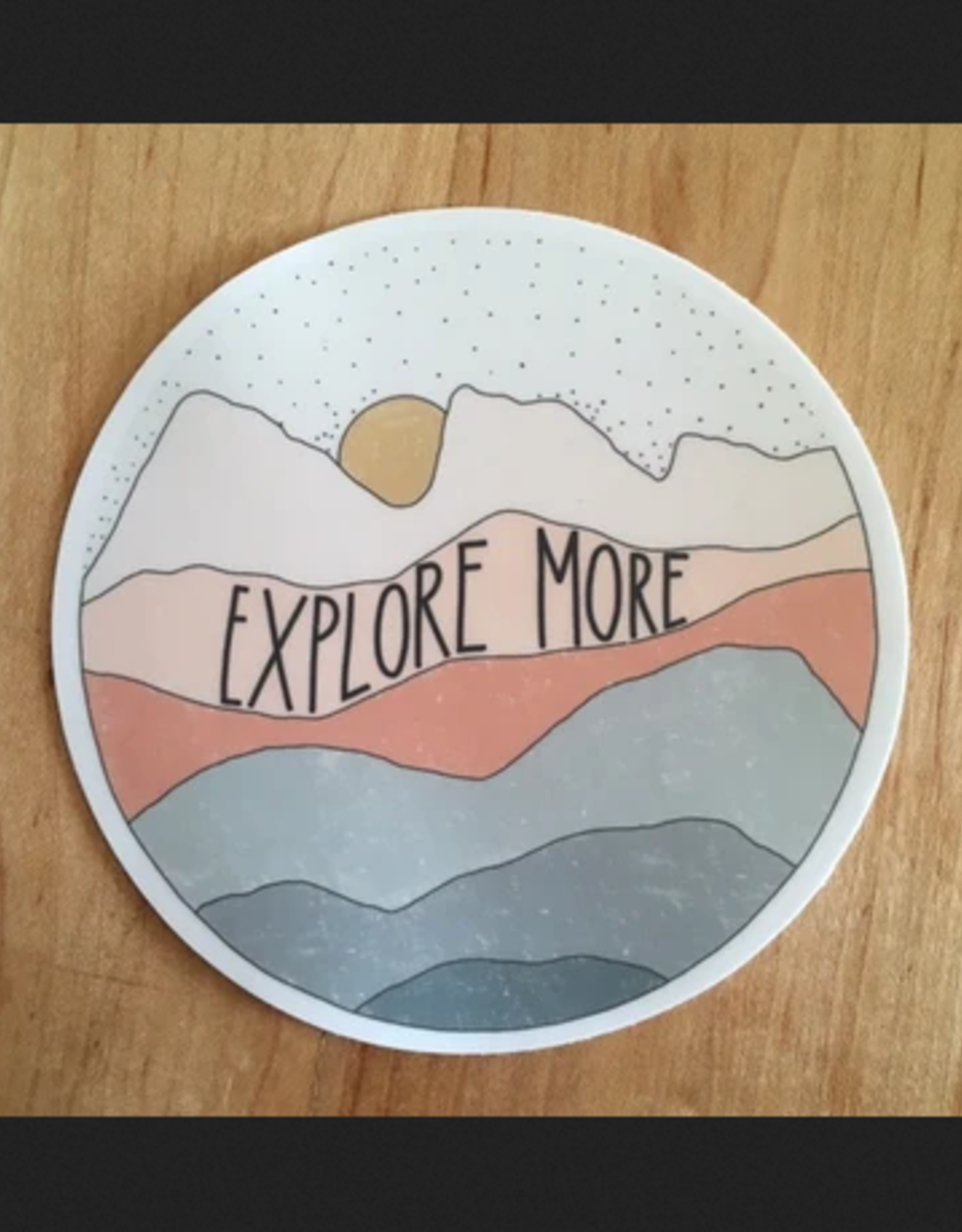 PEN AND PINE Explore More Vinyl Sticker