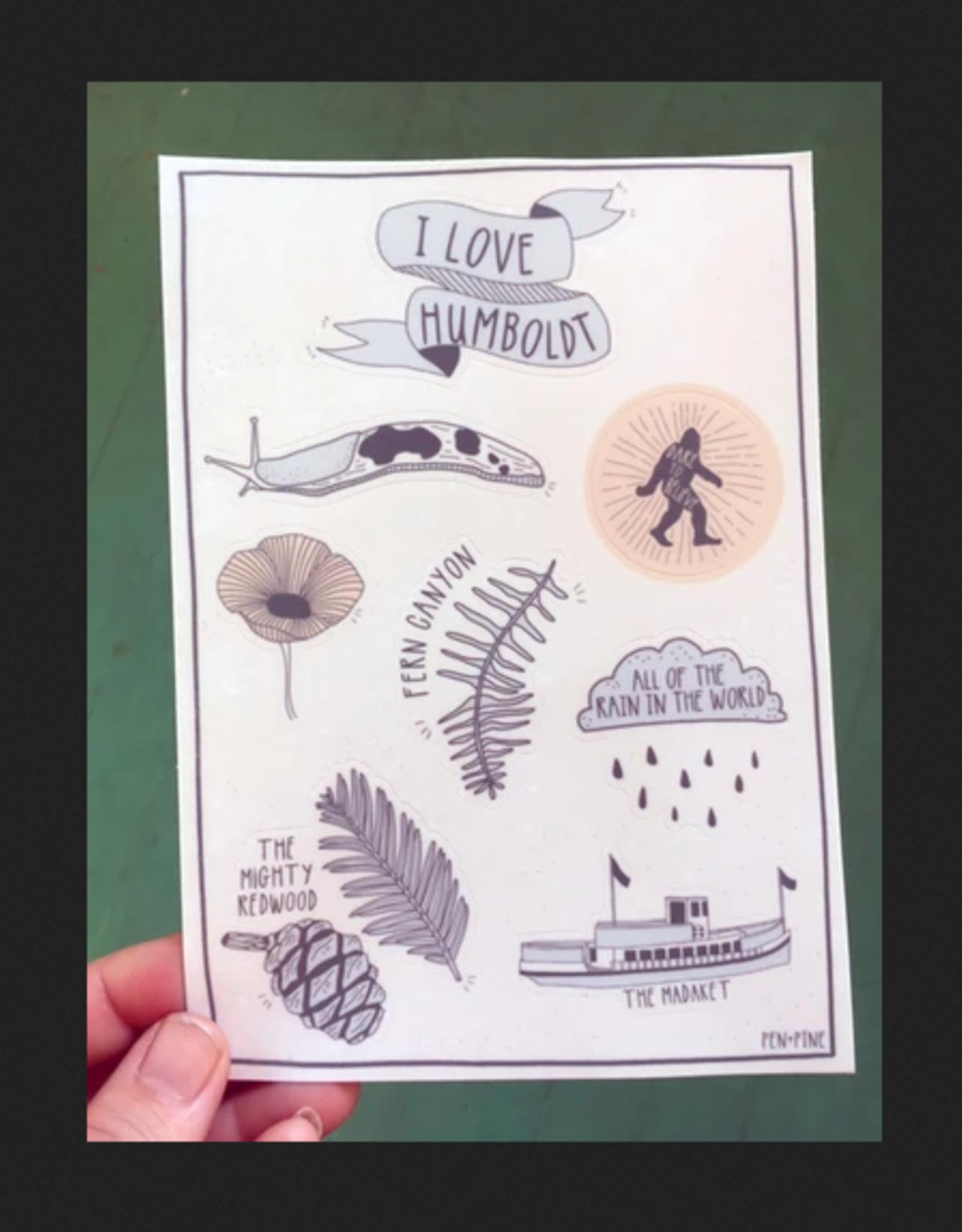 PEN AND PINE Humboldt Sticker Sheet