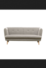 Grey Sofa with Oak Wood Legs