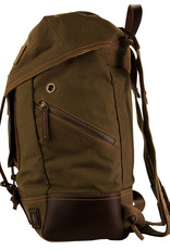 DAMNDOG Rucksack Backpack - Brown/Green