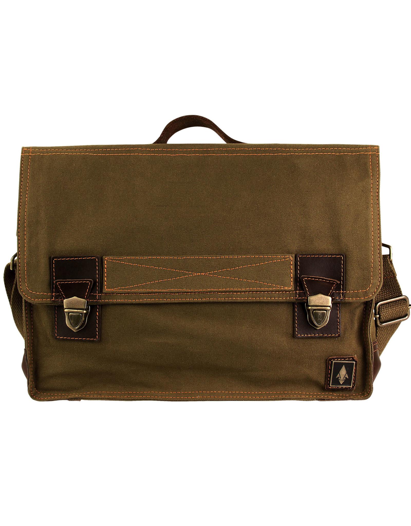DAMNDOG Work Bag - Brown/Green