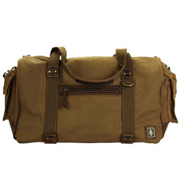 DAMNDOG Weekender Bag - Brown/Green