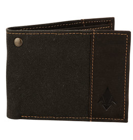 DAMNDOG Canvas and Leather Billfold Wallet - Grey