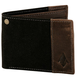 DAMNDOG Canvas and Leather Billfold Wallet - Black