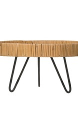 Metal Footed Rattan Tray