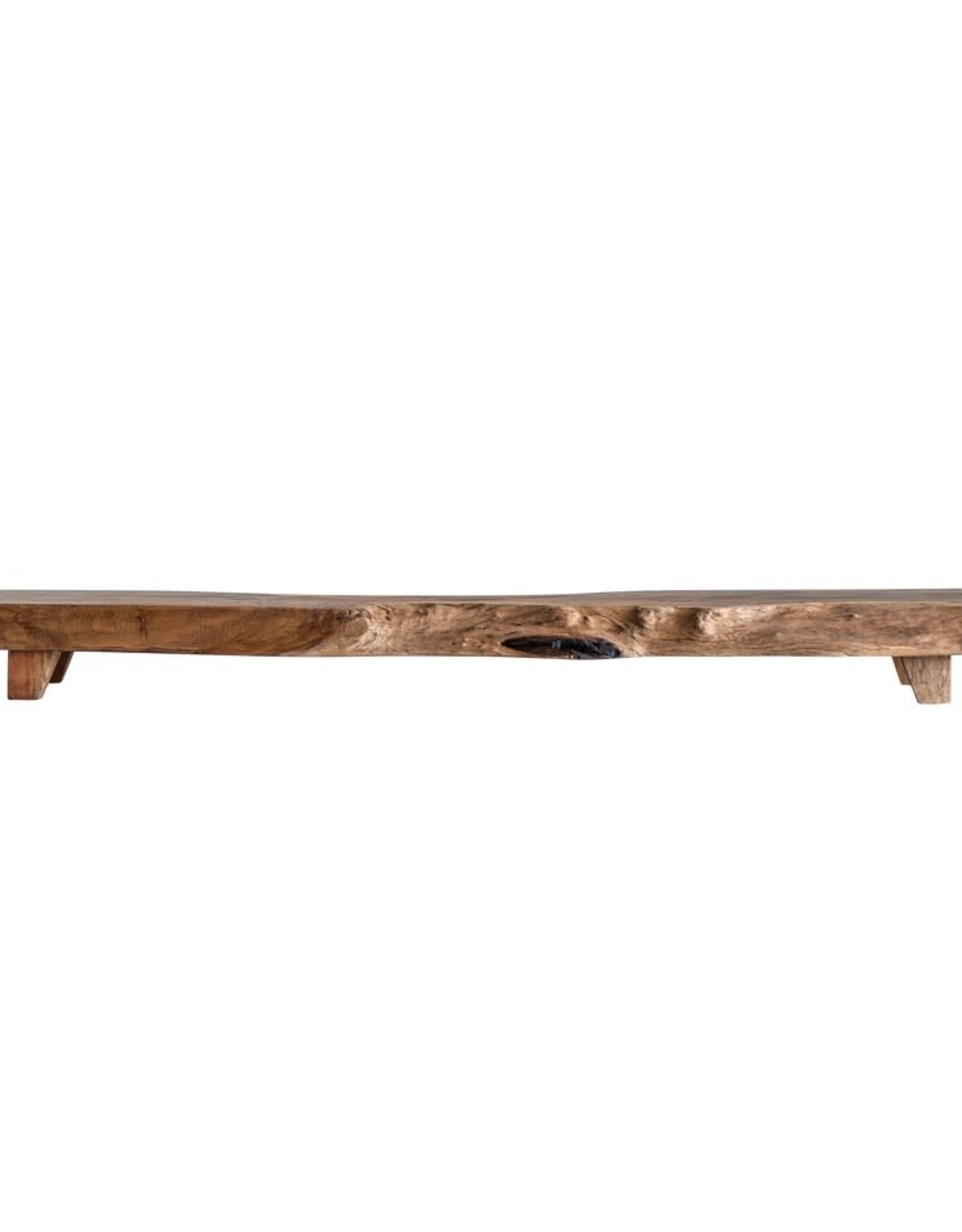Wood Pedestal Tray