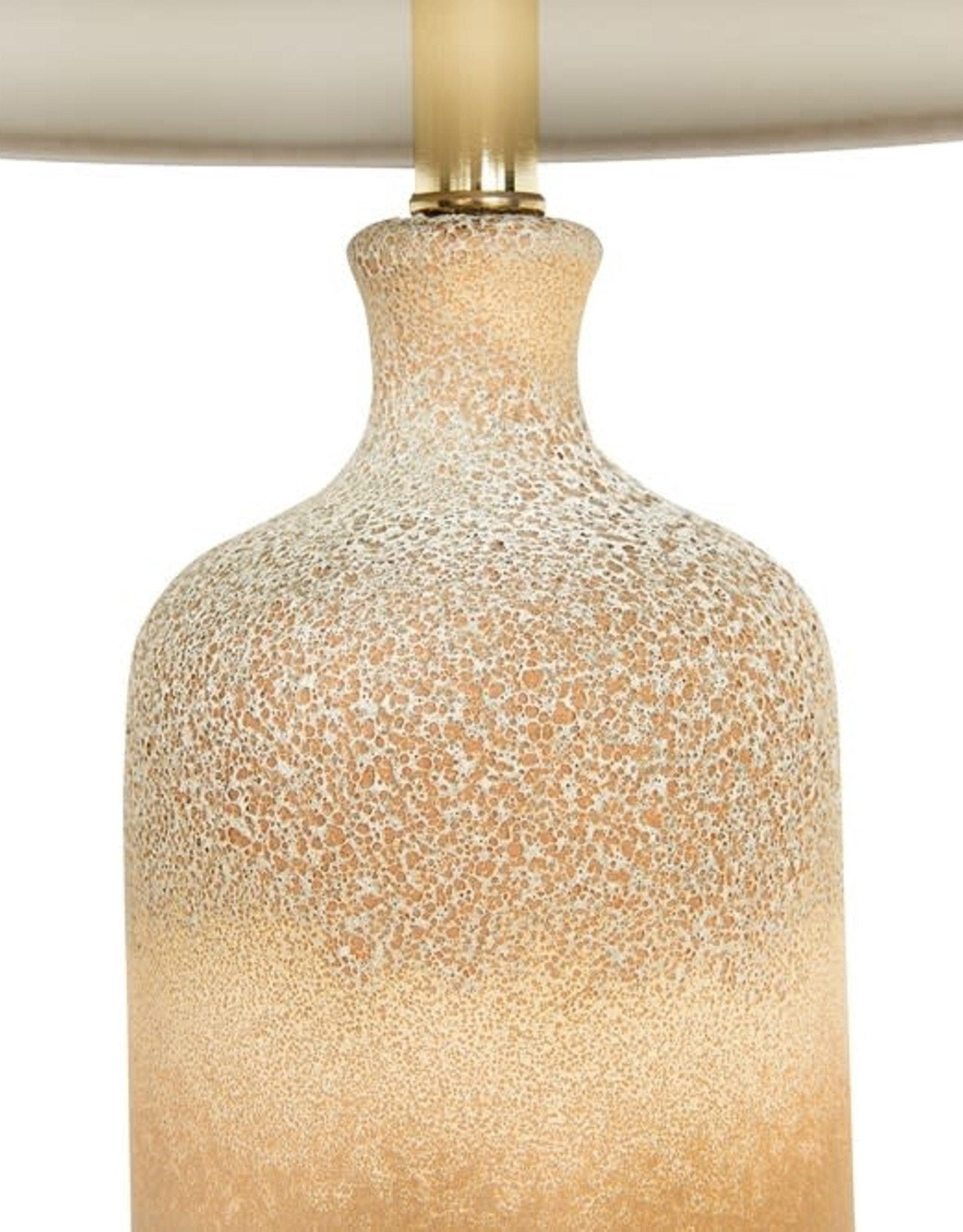 Reactive Glazed Beige Table Lamp