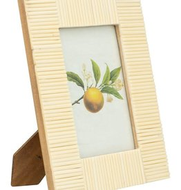 FRAME WHITE TEXTURED RESIN 4 INCHES X 6 INCHES