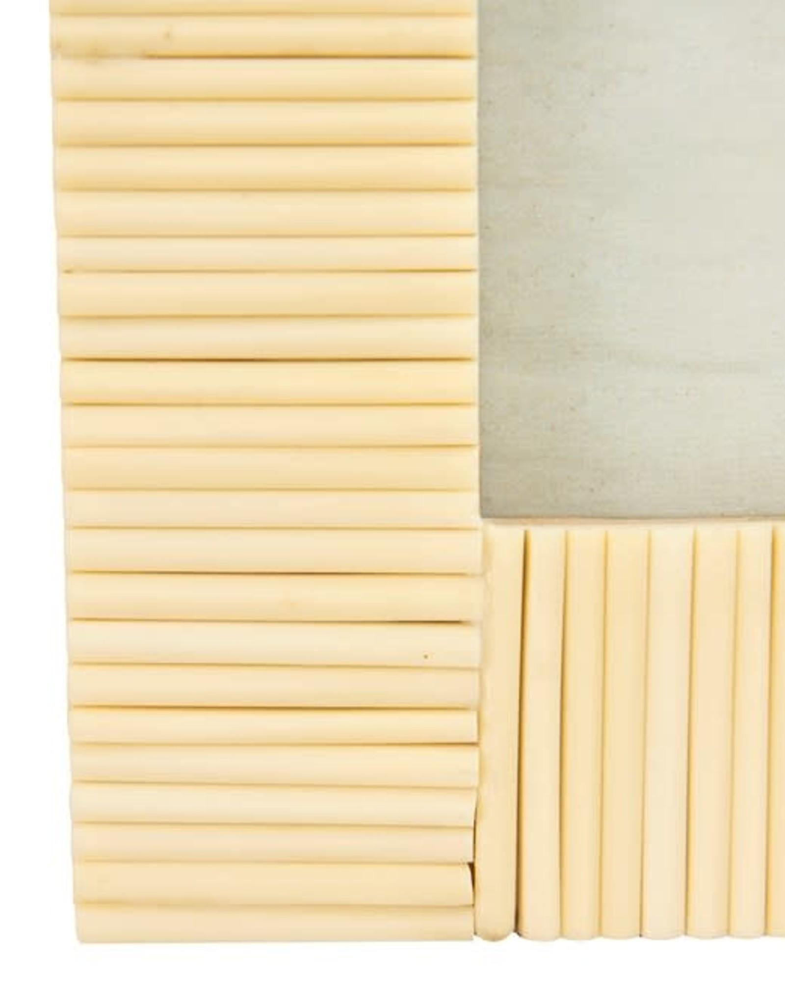Textured White Resin Frame