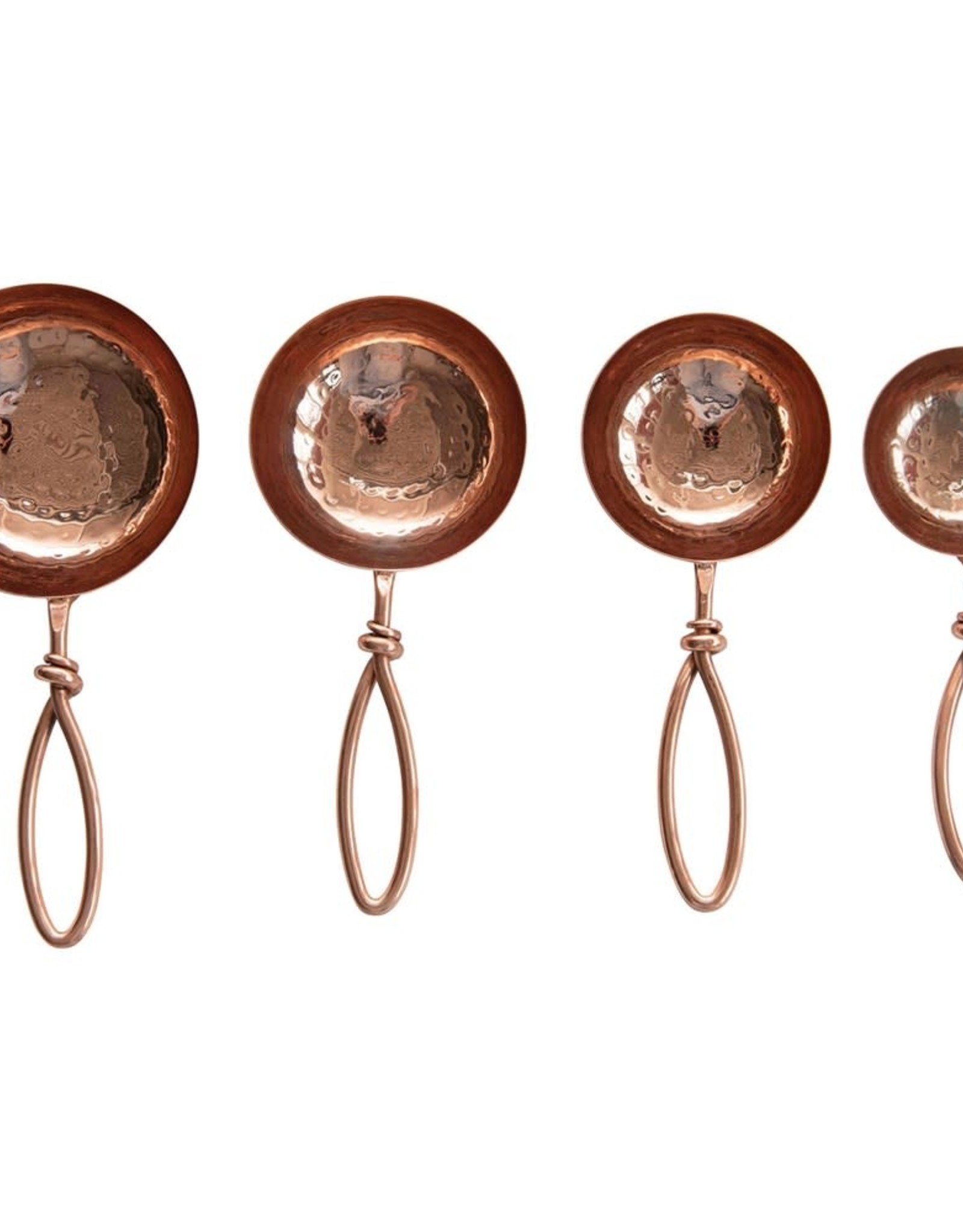 Hammered Copper Plated Stainless Steel Scoops