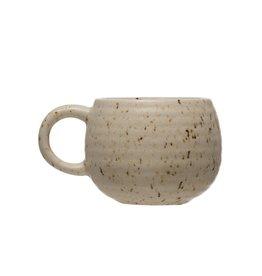 Reactive Glazed Beige Stoneware Mug