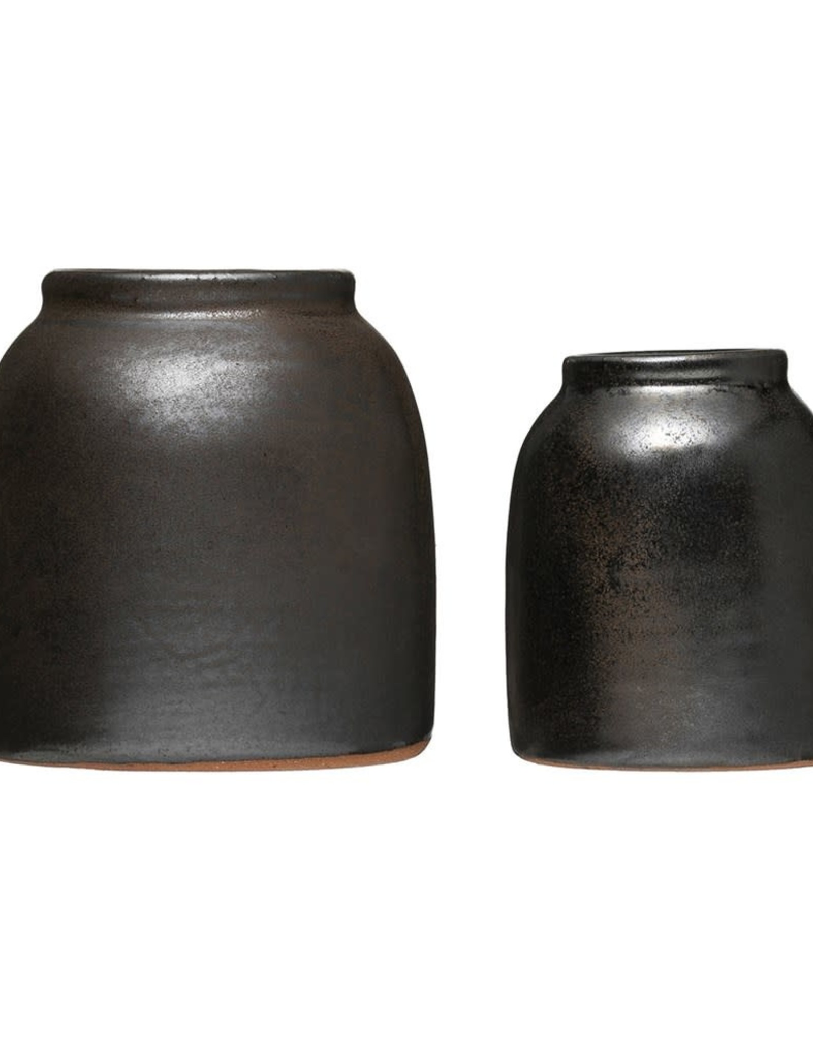Reactive Bronze Glazed Vase