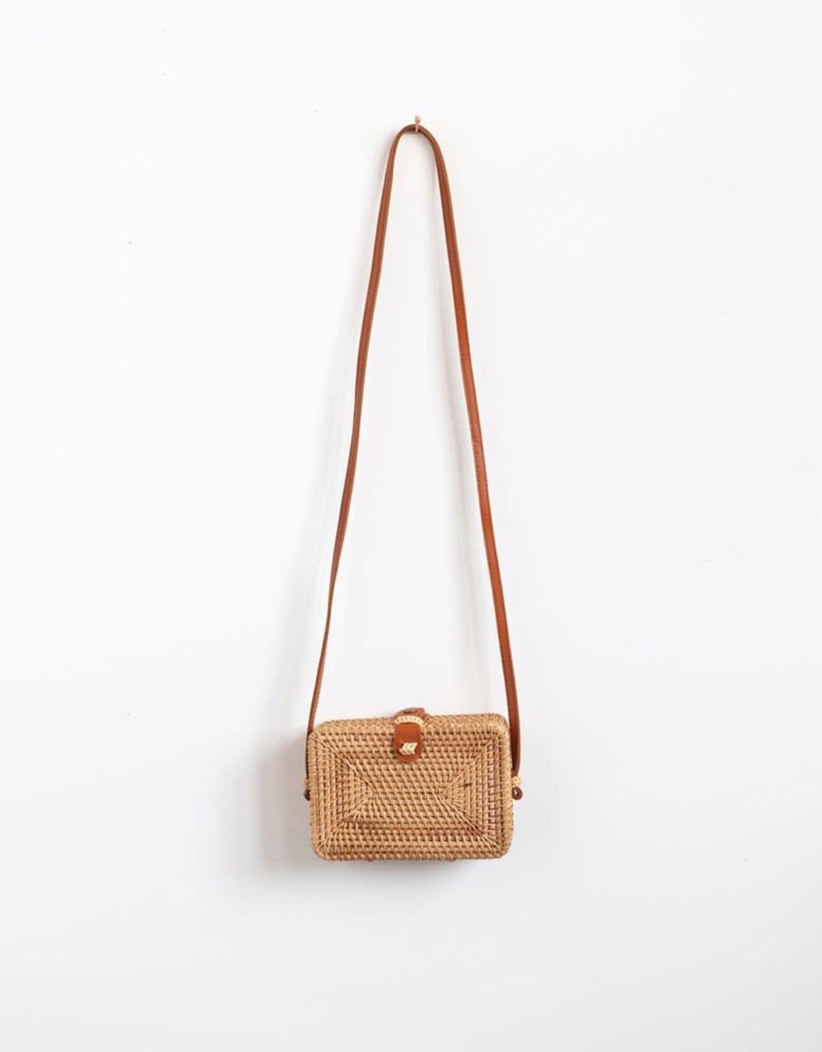 Woven Rattan Shoulder Bag