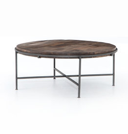 TABLE COFFEE SIMIEN ROUND  COFFEE FINISH GUNMETAL BASE
