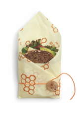 BEES WRAP BEES WRAP BEESWAX AND COTTON FOOD STORAGE WRAP SANDWICH SIZE HONEYCOMB