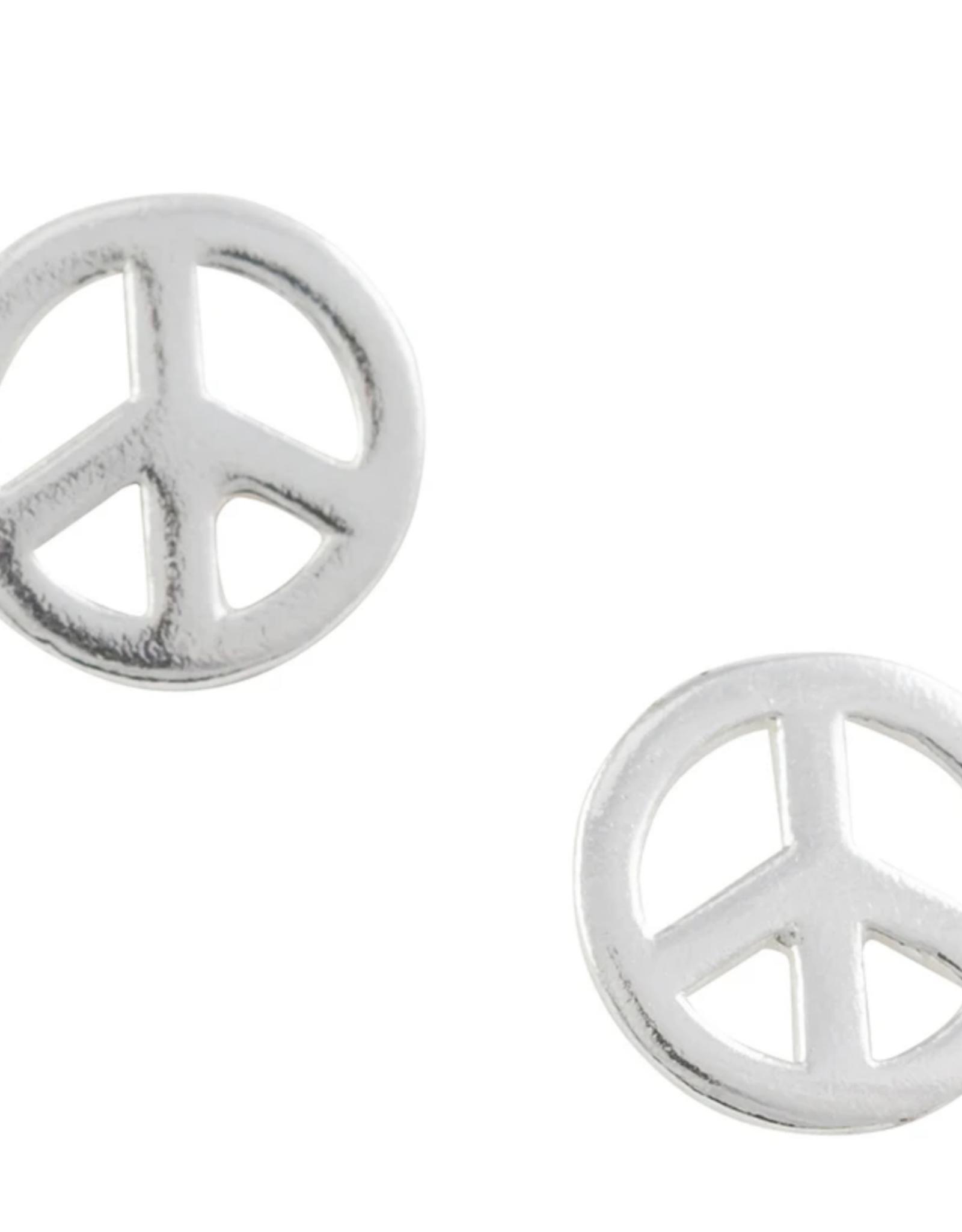 Peace Stud Earrings