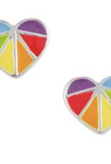 Rainbow Heart Stud Earring
