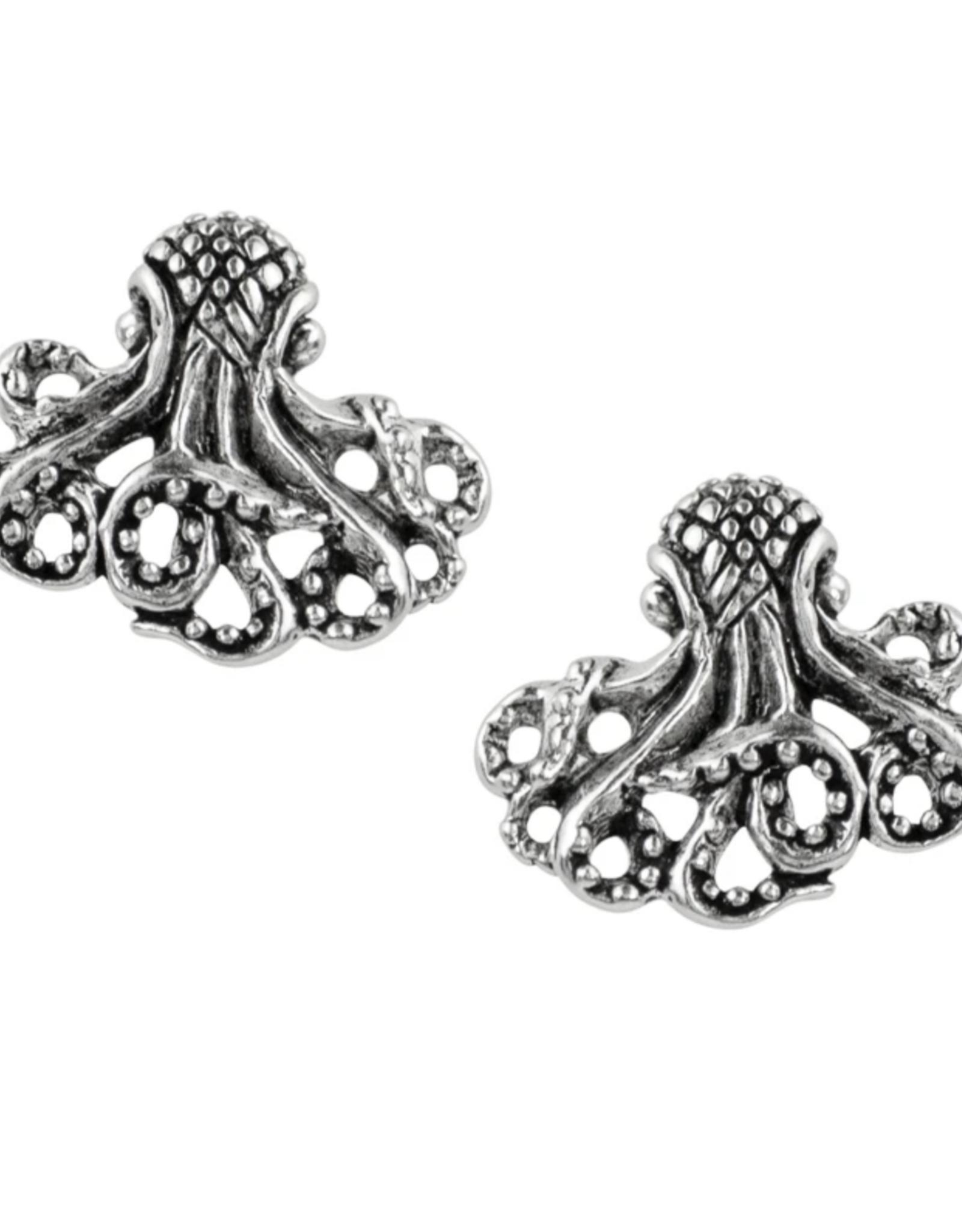 Textured Octopus Stud Earrings