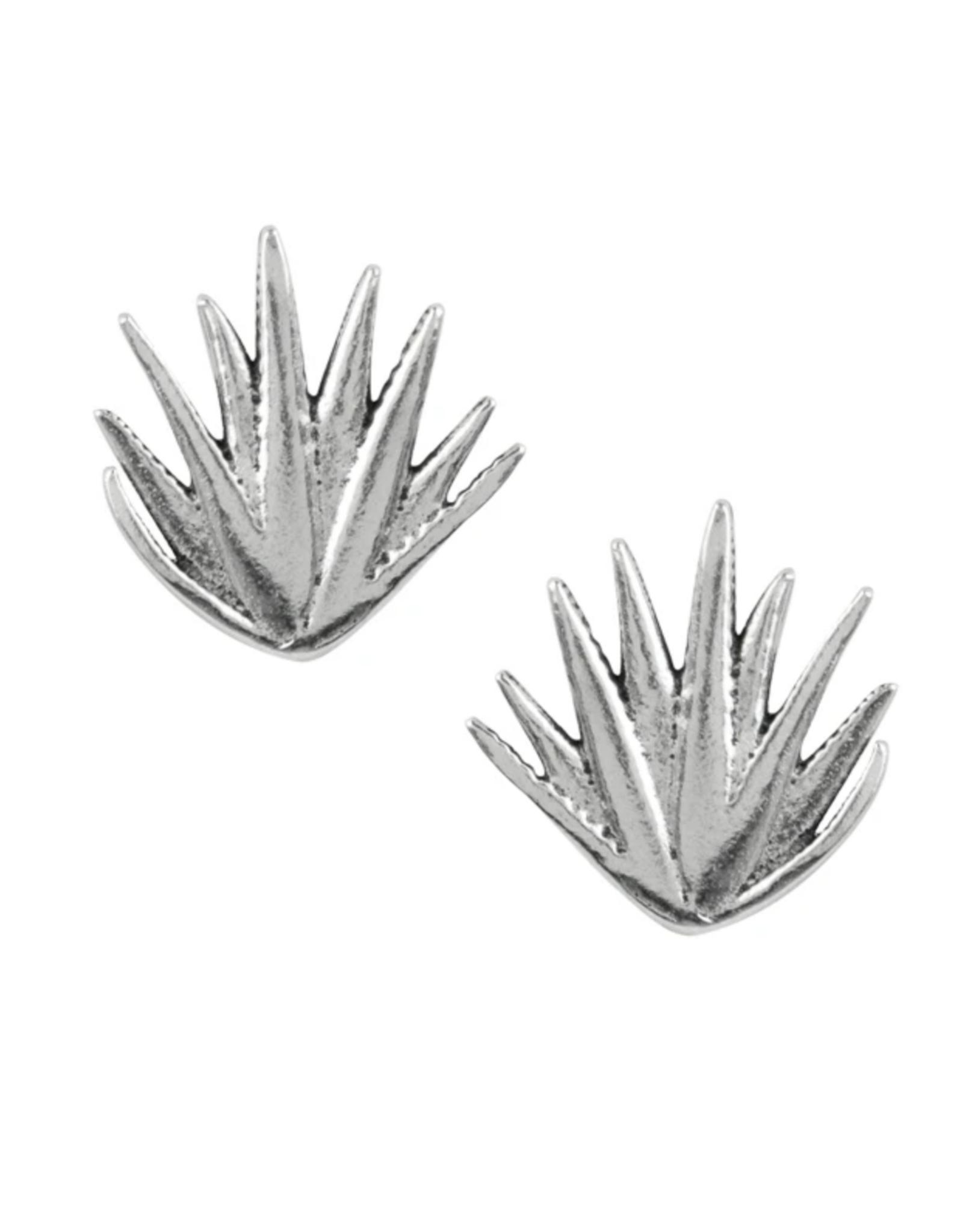 Agave Plant Stud Earrings