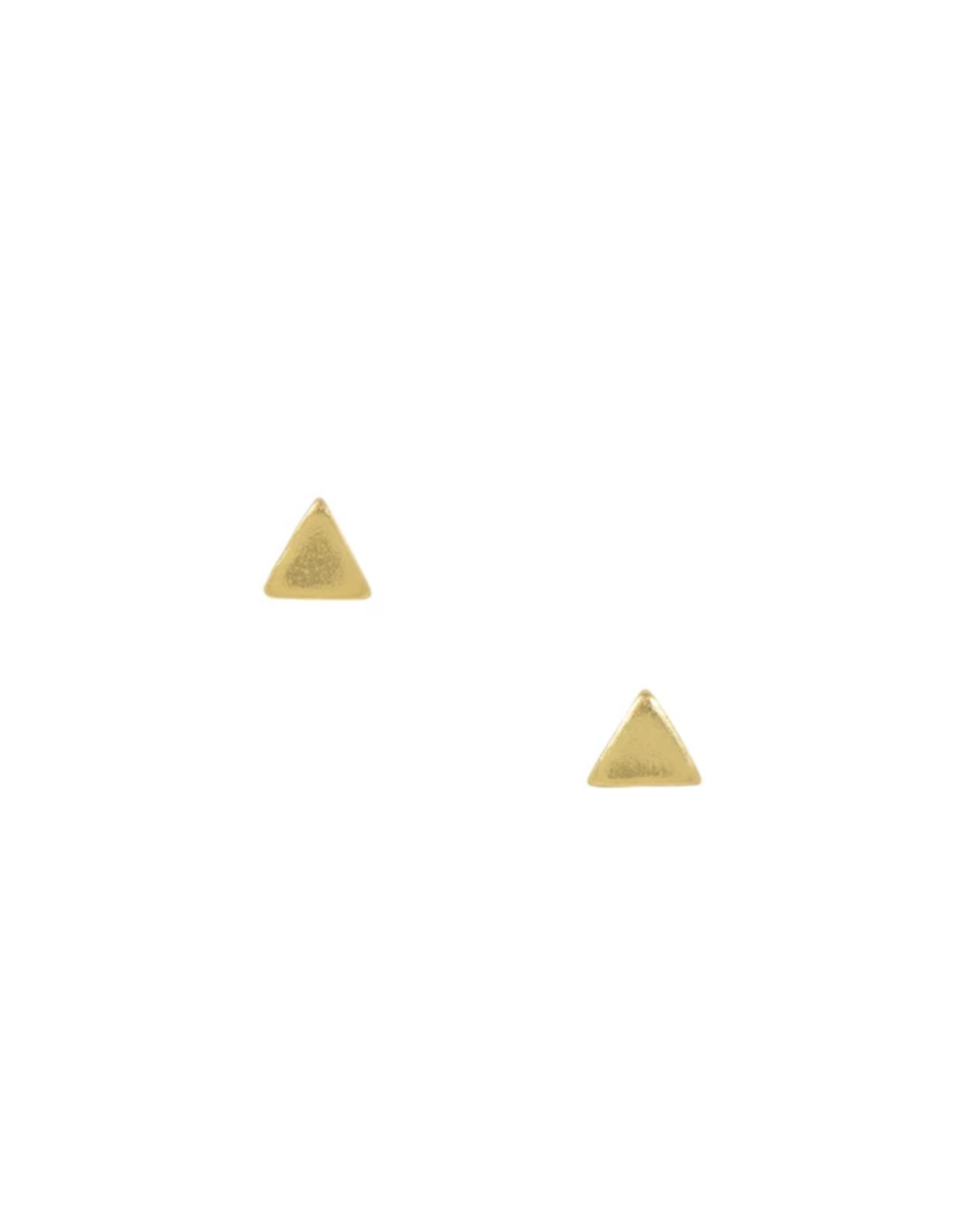 Gold Small Triangle Stud Earrings