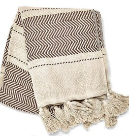 Cotton Throw - Multi-Pattern Chevron