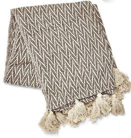 Cotton Throw - Chevron Pattern