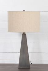 LAMP TABLE LEANDER PEWTER