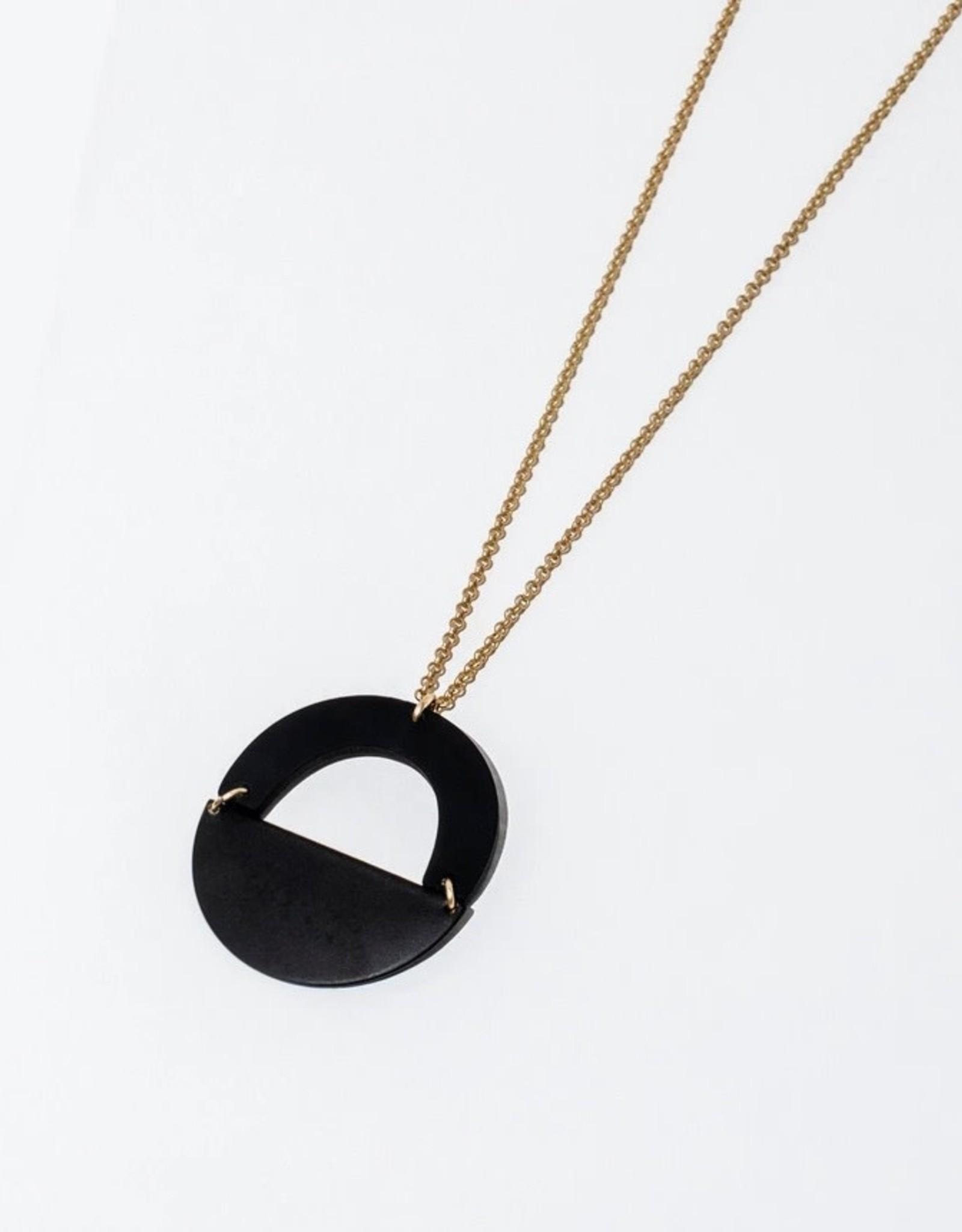Black Circular Pendant