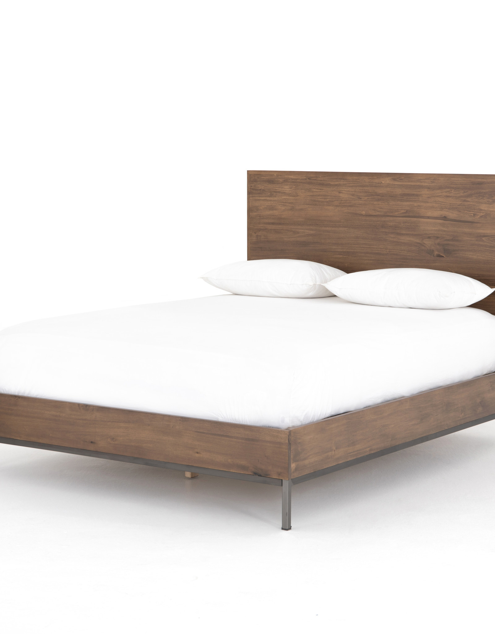Poplar King Bed Frame