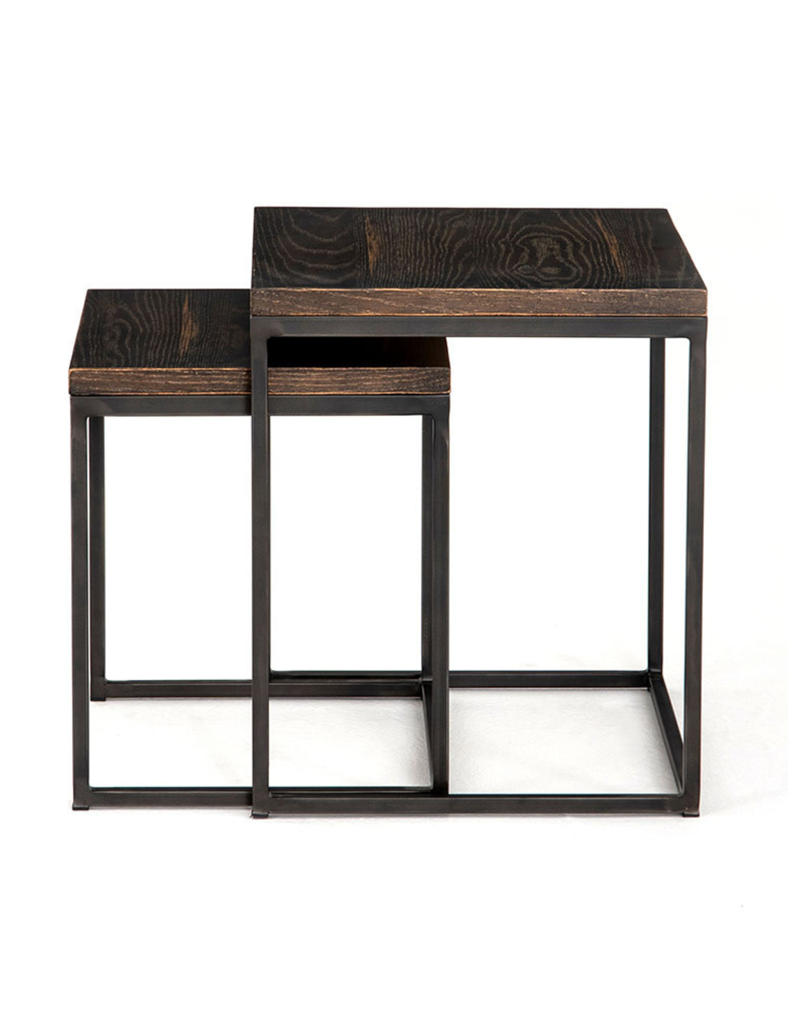 Harlow English Brown Oak Side Table - Small