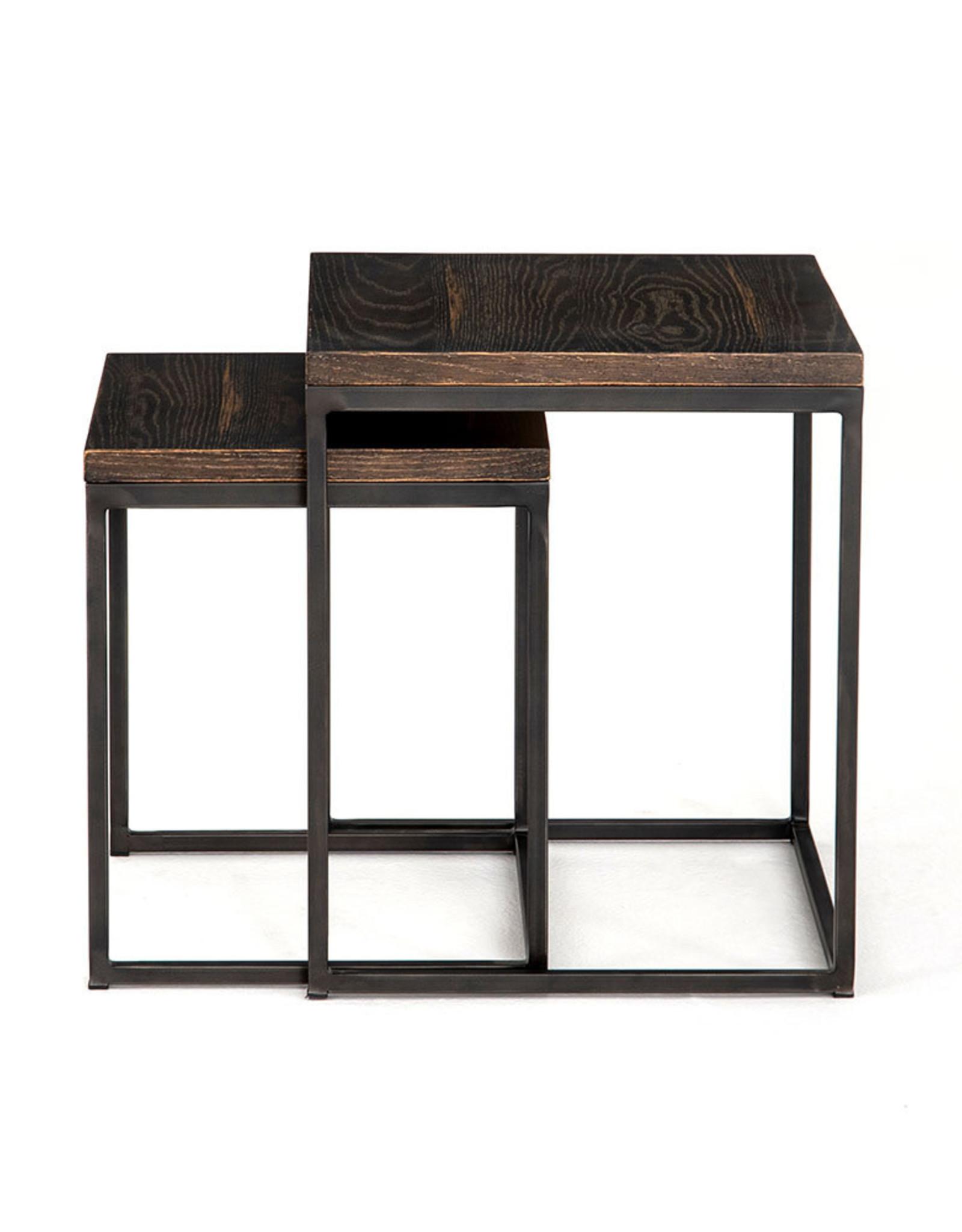 Harlow English Brown Oak Side Table - Large