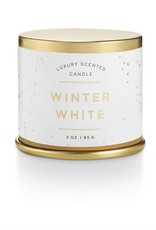 CANDLE DEMI TIN WINTER WHITE SMALL