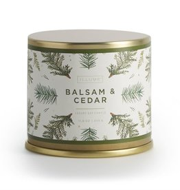 CANDLE DEMI TIN BALSAM AND CEDAR LARGE