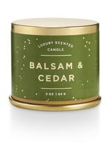 CANDLE DEMI TIN BALSAM AND CEDAR SMALL