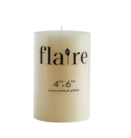 CANDLE PILLAR 4 X 6 UNSCENTED 112 HOUR BURN TIME