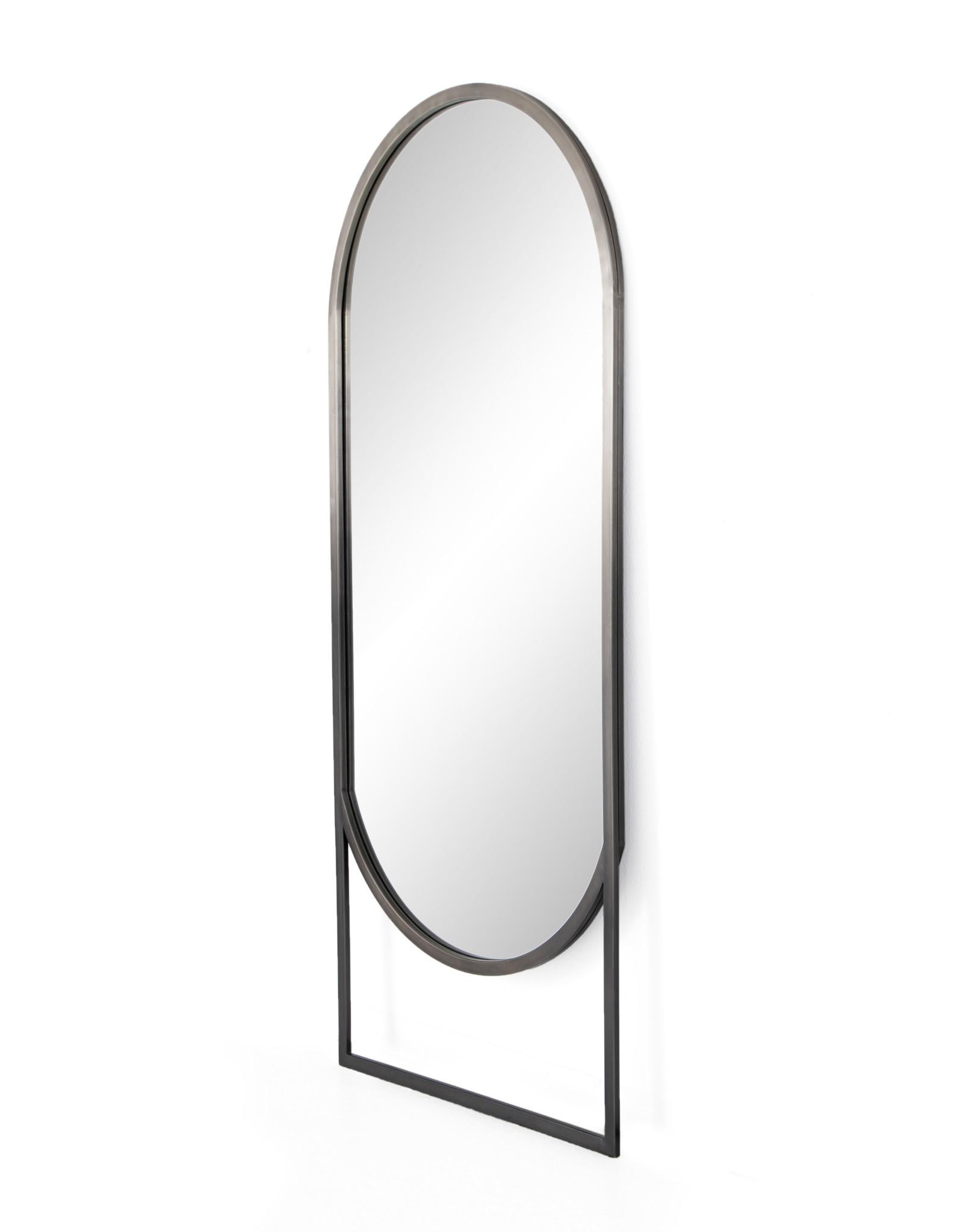 Dawson Floor Mirror - Ombre Pewter