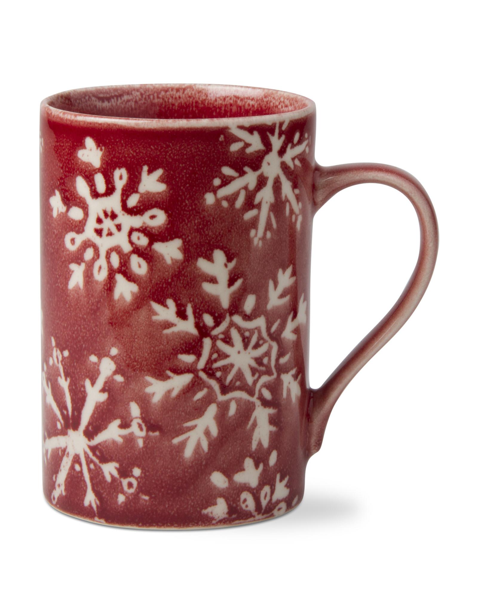 MUG SNOWFLAKE RED