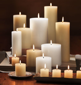 CANDLE PILLAR CHAPEL IVORY 4 X 6